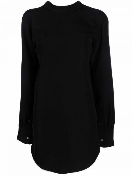 Czarna sukienka długa z długimi rękawami Viktor & Rolf