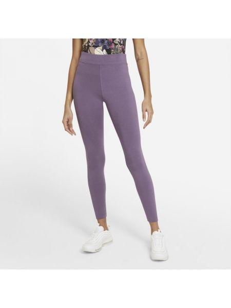Fioletowe legginsy z wysokim stanem na co dzień Nike