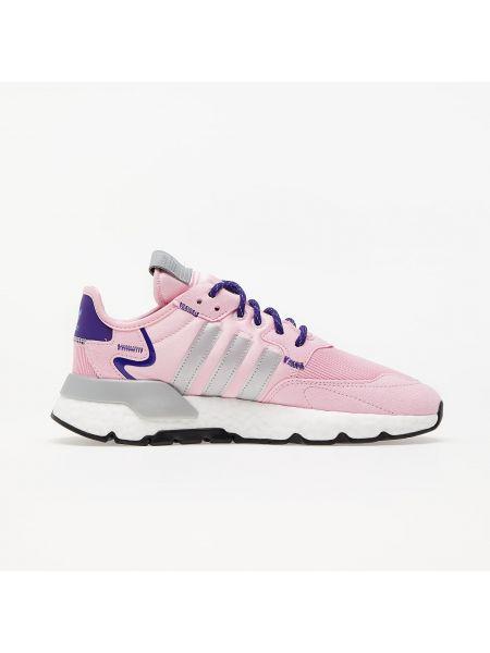 Różowe joggery srebrne Adidas Originals