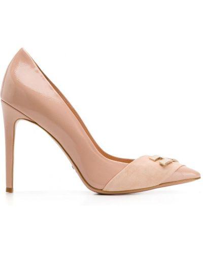 Туфли-лодочки кожаные на шпильке Elisabetta Franchi