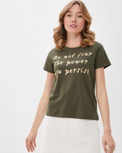 Зеленая с рукавами футболка B.young