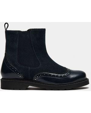 Синие кожаные ботинки Ralf Ringer