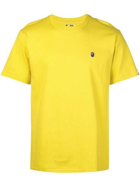 Koszula krótkie z krótkim rękawem z haftem z logo Bape