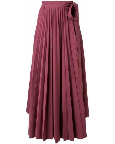 Фиолетовая юбка макси со складками Dalood