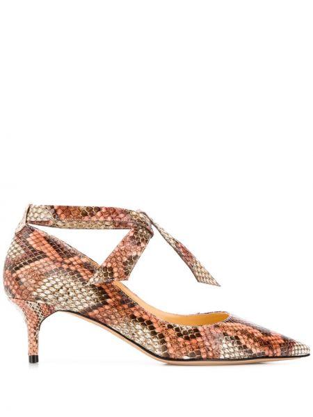 Туфли на каблуке кожаные на шнуровке Alexandre Birman