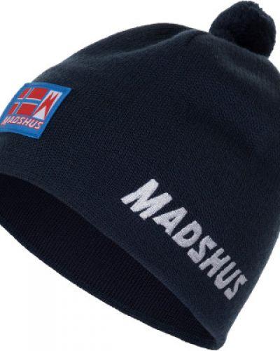 Шерстяная синяя шапка для бега Madshus