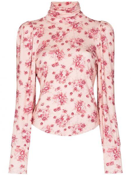 Розовая рубашка из вискозы Loveshackfancy
