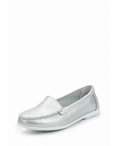 Мокасины серебряного цвета Zenden Comfort