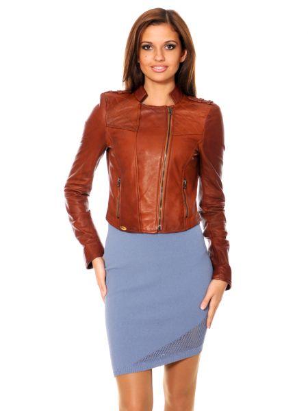 Кожаная куртка - коричневая Mor`a