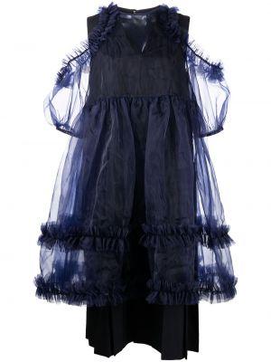 Платье мини короткое - синее Comme Des Garçons Noir Kei Ninomiya