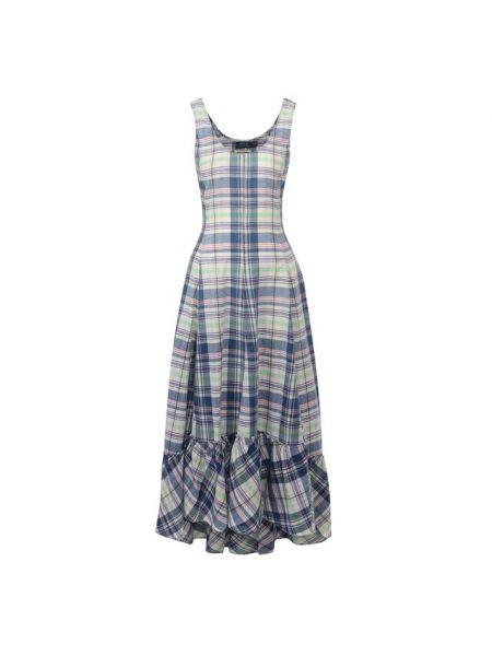 Платье с оборками расклешенное Polo Ralph Lauren