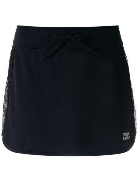 Черная прямая юбка мини со вставками Track & Field