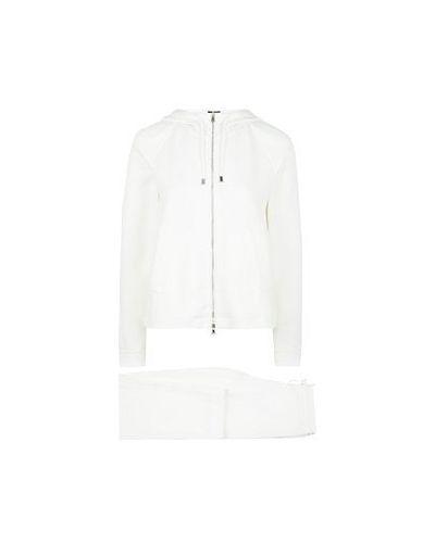 Костюмный белый спортивный костюм Emporio Armani