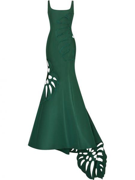 Вечернее платье с вышивкой - зеленое Oscar De La Renta