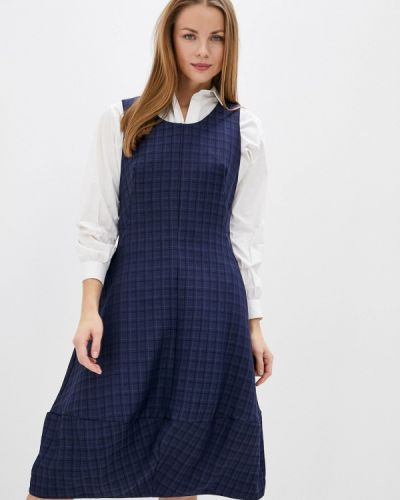 Повседневное синее повседневное платье Mankato
