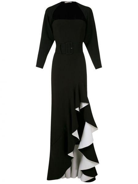 Вечернее платье с оборками с разрезом Reinaldo Lourenço