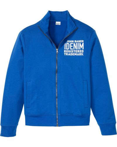Синяя трикотажная блузка на резинке Bonprix