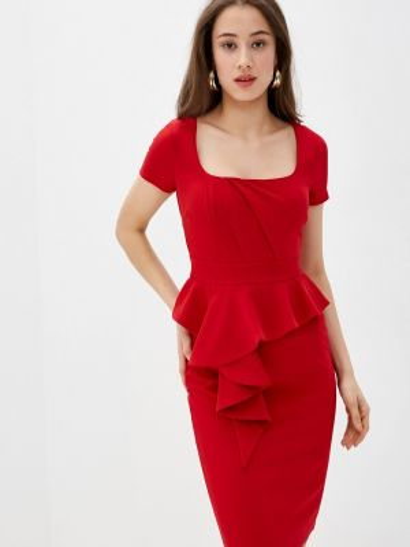 Платье прямое красный City Goddess
