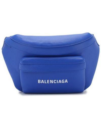 Поясная сумка кожаная деловая Balenciaga