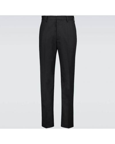 Czarne spodnie bawełniane z paskiem Acne Studios