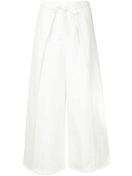 Белая джинсовая юбка на молнии с поясом свободного кроя Frei Ea