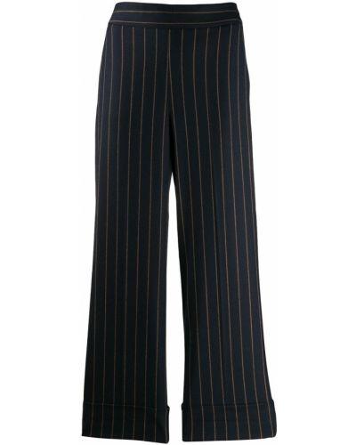 Укороченные брюки в полоску с карманами Incotex