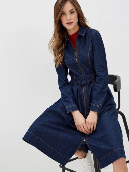 Джинсовое платье синее весеннее Tommy Hilfiger