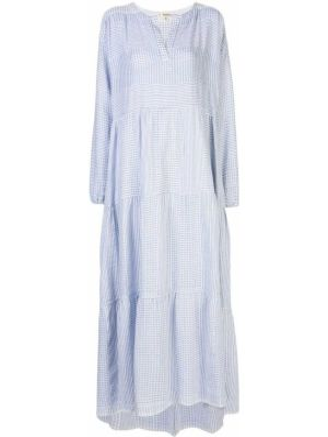 Платье макси длинное - синее Lemlem