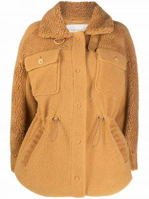 Brązowy płaszcz zapinane na guziki Urbancode