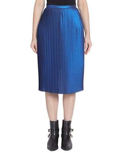 Гармошкой синяя плиссированная юбка Each X Other