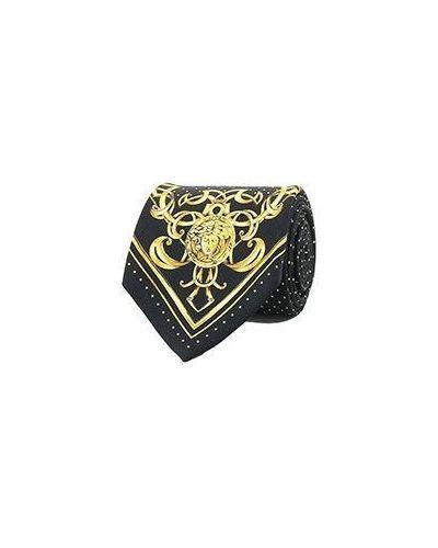 Черный галстук Versace