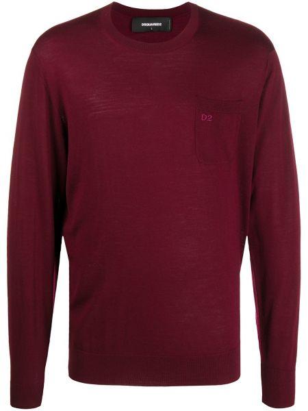 Z rękawami pulower z haftem z mankietami z kieszeniami Dsquared2
