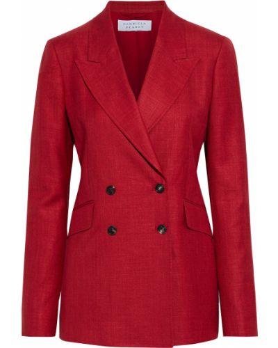 Малиновый пиджак двубортный с карманами Gabriela Hearst