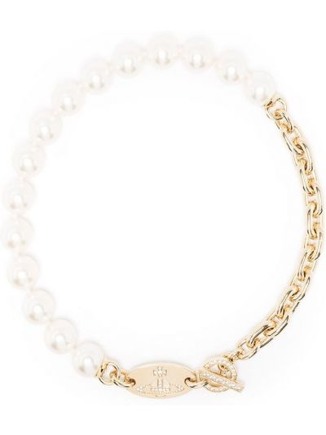 Ожерелье с жемчугом - белое Vivienne Westwood