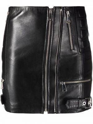 Черная шелковая юбка Manokhi