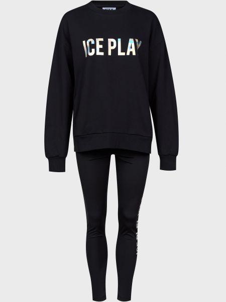 Хлопковый спортивный костюм - черный Ice Play
