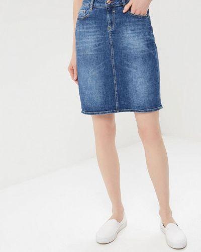 Синяя джинсовая юбка H.i.s