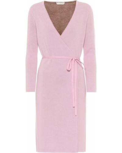 Шерстяное розовое платье стрейч Diane Von Furstenberg