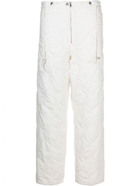 Шерстяные белые брюки с карманами Christian Wijnants