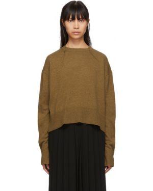 Кашемировый коричневый свитер с воротником с манжетами Studio Nicholson