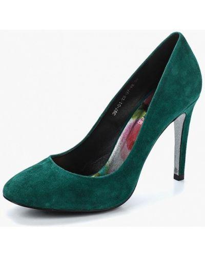 Туфли-лодочки на каблуке велюровые Calipso