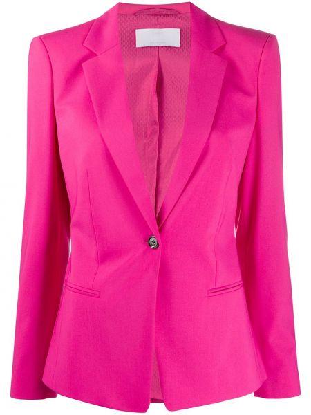 Однобортный розовый приталенный классический пиджак Boss Hugo Boss