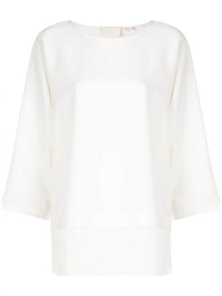 Biała bluzka z jedwabiu Bamford