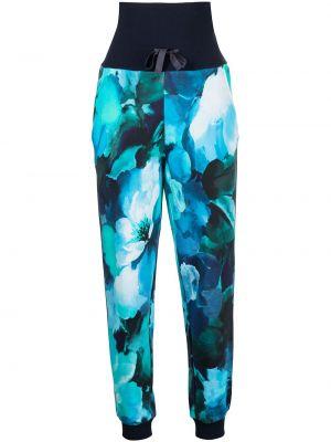 Спортивные брюки с завышенной талией - синие Marchesa Notte