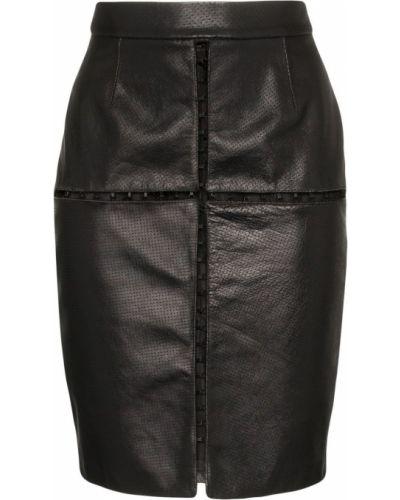 Плиссированная черная юбка мини Situationist