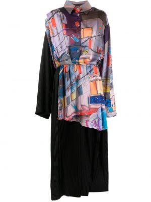 Платье макси длинное - синее Natasha Zinko