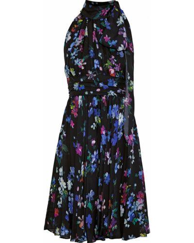 Шелковое черное платье с подкладкой Milly