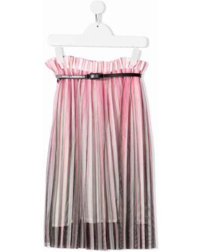 Długa spódnica tiulowa - różowa Karl Lagerfeld Kids