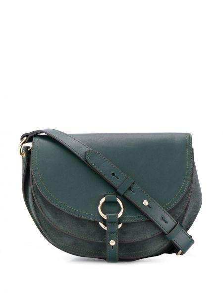 Зеленая сумка на плечо с карманами Tila March