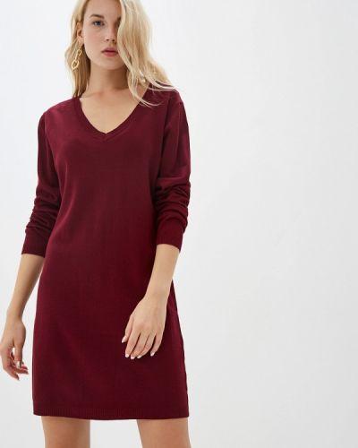 Платье осеннее красный Tantra